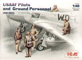 Пилоты и техники ВВС США (1941-1945). 1/48 ICM 48083