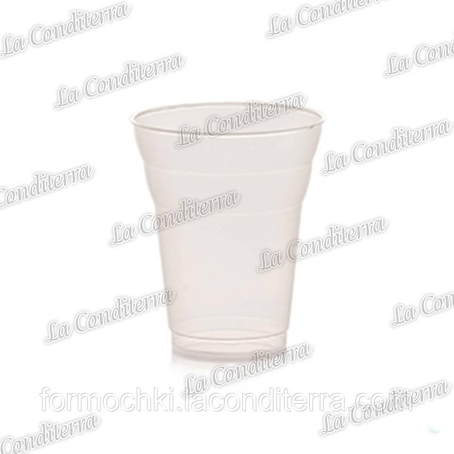 Пластиковий стакан для напоїв, прозорий Polo Plast 431-00 (350 мл)