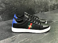 Кроссовки в стиле GUCCI (черно белые) кожанные кроссовки гуччи 5547
