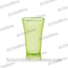 Пластиковий зелений стакан для напоїв Polo Plast 431 (350 мл)
