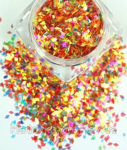 Ромбы для декора ногтей хамелеон PGP-39 №1