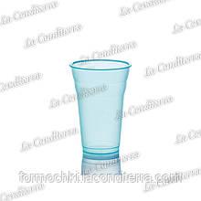 Пластиковий блакитний стакан для напоїв Polo Plast 431 (350 мл)