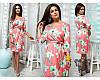 Платье женское короткое с цветочным принтом P10023