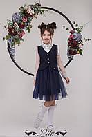 Школьний костюм жакет и фатинова юбка для девочек АКЦИЯ