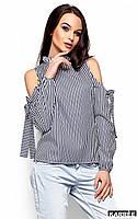 Блуза с открытыми плечами Непал черный (S,M,L)