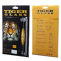 Защитное стекло TigerGlass для APPLE iPhone 6 (0.3 мм, 2.5D, Full Screen, чёрное) в комплекте с задней плёнкой