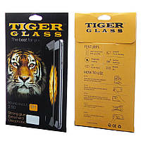 Защитное стекло TigerGlass для APPLE iPhone 7 (0.3 мм, 2.5D, Full Screen, чёрное) в комплекте с задней плёнкой