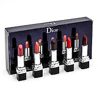 Подарунковий набір помад Christian Dior Rouge Mini Lipstick Gift Set Limited Holiday Edition, фото 1