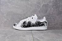 Кроссовки Adidas Stan Smith Tropik Black Женские (ЧЕРНЫЕ), фото 1