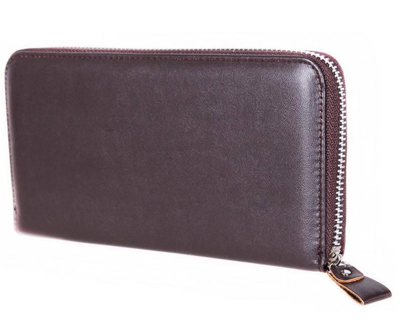 Стильный мужской клатч коричневого цвета 3077755