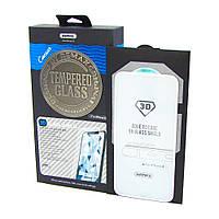 Защитное стекло Remax для APPLE iPhone X Caesar (0.3mm, 3D белое) в комплекте с задним стеклом