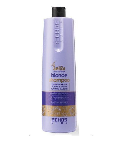 ECHOSLINE Seliar Blonde Shampoo - Шампунь с частицами платины и аргановым маслом 1000 мл