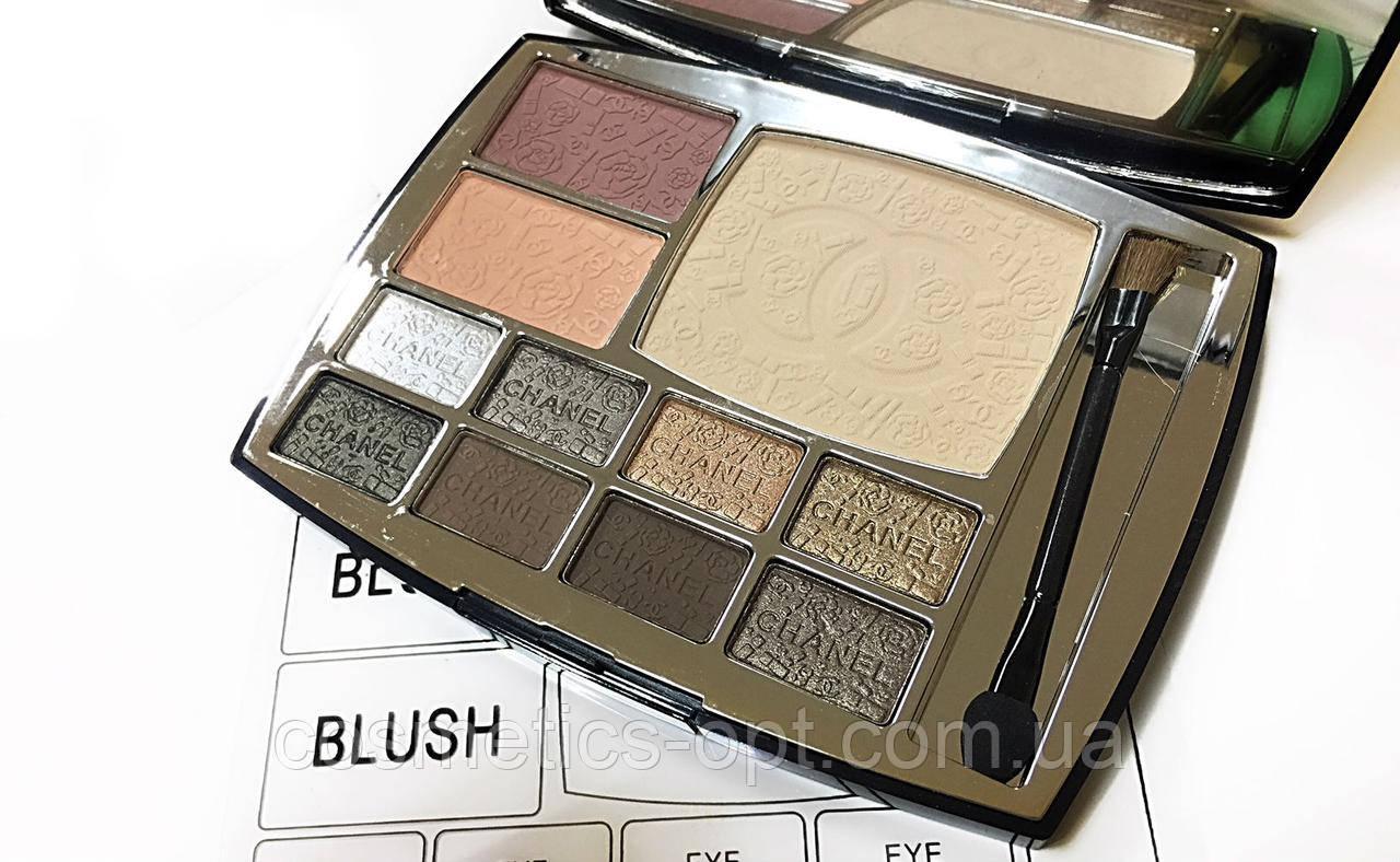 Палетка Chanel Travel Makeup Palette (тени, пудра, румяна) (реплика)