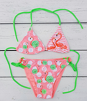 Купальник для девочки Фламинго, персик (р.3,6 лет)