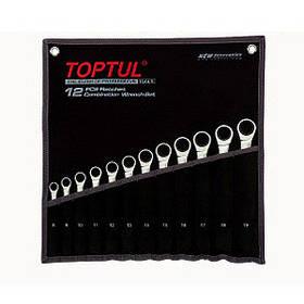 Набір ключів комбінованих з тріскачкою 8-19мм в сумці 12ед. Toptul GPAQ1202