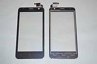 Оригинальный тачскрин / сенсор (сенсорное стекло) для Prestigio MultiPhone 3450 Duo (черный цвет) + СКОТЧ