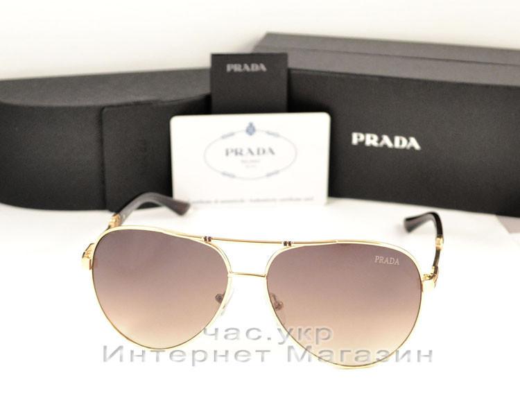 41b72c69016d Женские солнцезащитные очки Prada Aviator оправа металлическая новинка  сезона Прада качественная реплика