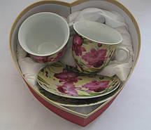 Сервиз чайный на 2 персоны, 4 предмета в подарочной коробке