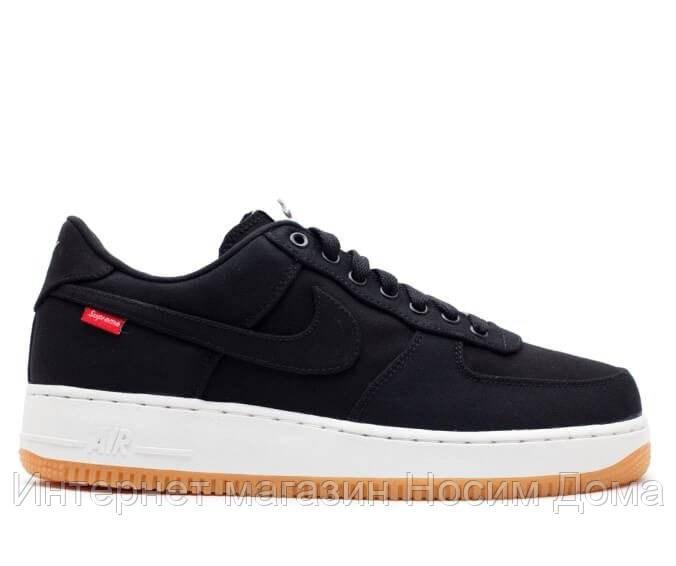 48ebc2d2 Кроссовки Supreme x Nike Air Force 1 Low Black 1265 - Интернет магазин  Носим Дома в