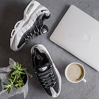Мужские кроссовки NIKE AIR MAX 95 QS (METALLIC PLATINUM   BLACK — WHITE) 46 3c76eff3f17c3