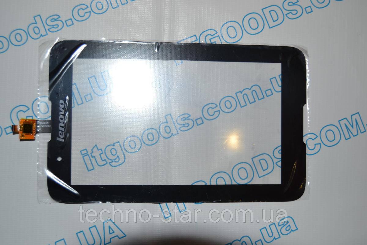 Тачскрин / сенсор (сенсорное стекло) для Lenovo IdeaTab A7-30 A3300 (черный цвет) + СКОТЧ