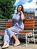 """Красивое льняное платье """"Айрум"""" большого размера, фото 2"""