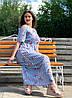 """Красивое льняное платье """"Айрум"""" большого размера, фото 3"""
