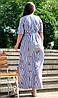 """Красивое льняное платье """"Айрум"""" большого размера, фото 4"""