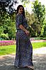 """Длинное летнее платье """"Вайли"""" большого размера, фото 2"""