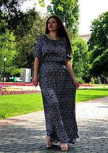"""Длинное летнее платье """"Вайли"""" большого размера"""