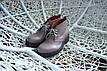 Кожанные ботинки на шнуровке , фото 2