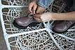 Кожанные ботинки на шнуровке , фото 3