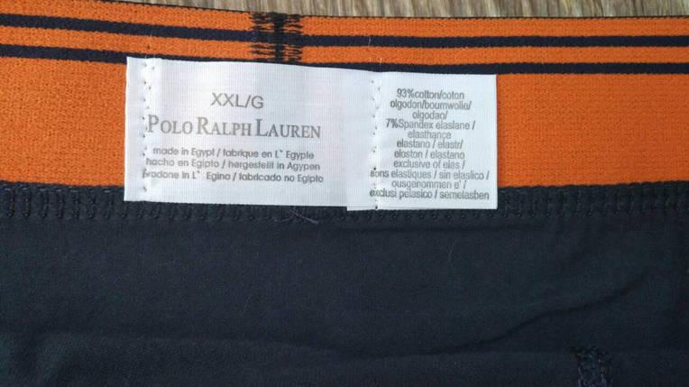 Мужские трусы боксёры Polo Ralph Lauren (реплика) голубые, фото 2