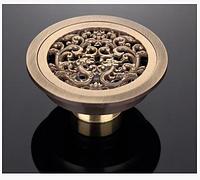Трап для душевой кабины круглый в бронзе 7-006, фото 1