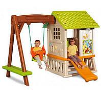 Дитячі будиночки, гірки, гойдалки, дитячі намети