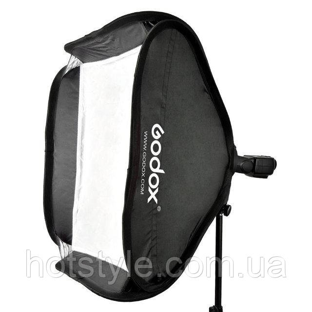 Cофтбокс для вспышки Godox, c держателем S-type, 50х50см+сумка