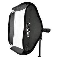 Cофтбокс для вспышки Godox 50х50см, c держателем S-type