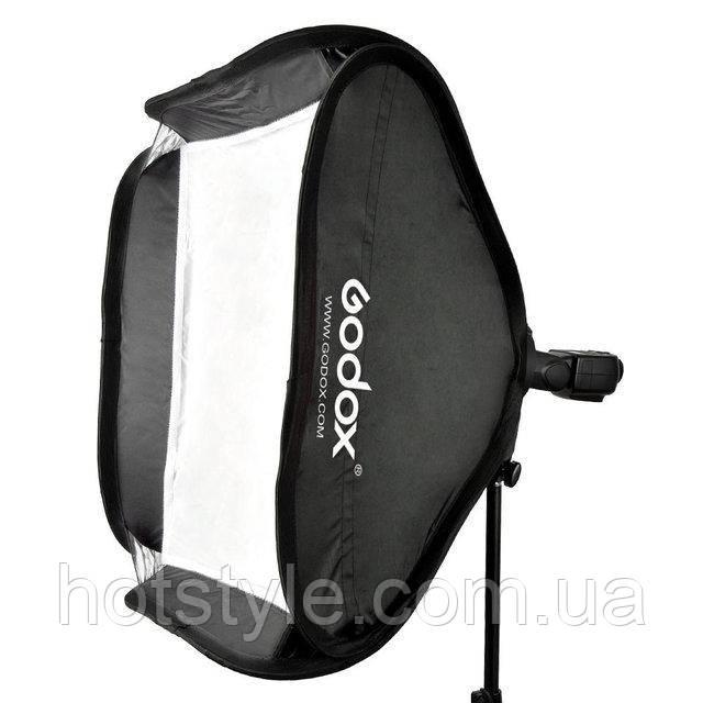 Cофтбокс для вспышки Godox, c держателем S-type, 50х50см+сумка, фото 1