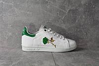 Кроссовки Adidas Stan Smith Green rose Женские (ЗЕЛЕНЫЕ), фото 1
