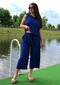 """Укороченные брюки женские большого размера """"Кюлоты Прошва"""""""