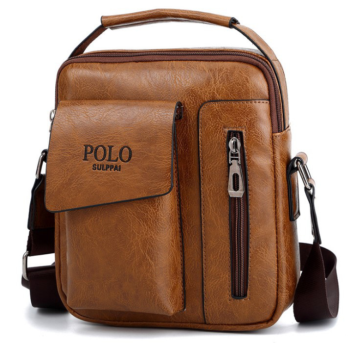 Барсетка мужская на плечо Polo Kook Коричневый