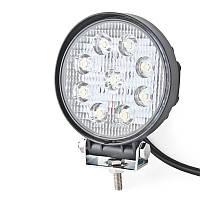 Дополнительная светодиодная LED фара BELAUTO 1980 лм 27 Вт 9 диодов 6000 К BOL0903 Spot (точечный)