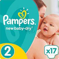 Подгузники Pampers New Baby-Dry Mini 3-6 кг Микро 17 шт.