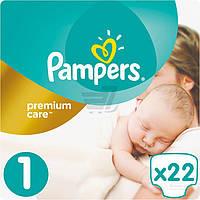 Подгузники Pampers Premium Care New Born 2-5 кг Микро 22 шт.