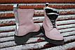 Зимние женские ботинки ручной работы с серебром, фото 4