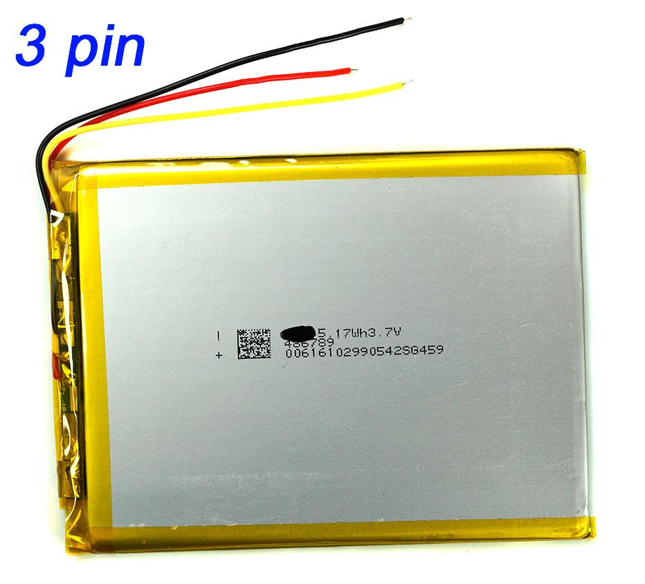 Аккумулятор 4100mAh 486690 для планшетов и электронных книг с выходом на 3 контакта (3 pin)