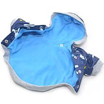 Курточка для собак Весна синяя с зайчиками, фото 2