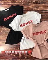 Женская футболка  01632 аф