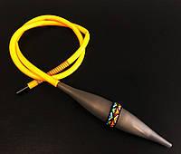 Шланг для кальяна с охладителем Ice Bazooka Yellow-Gray (Soft Touch)