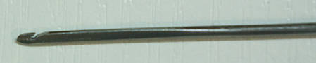 Крючек прошивной (для прошивки подошвы обуви)  ВЛ 0,8 мм. - 2,0 мм., фото 2